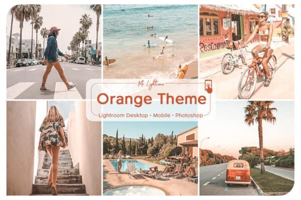 Orange 1.1 600x399 - Orange Theme Lightroom Desktop and Mobile Presets