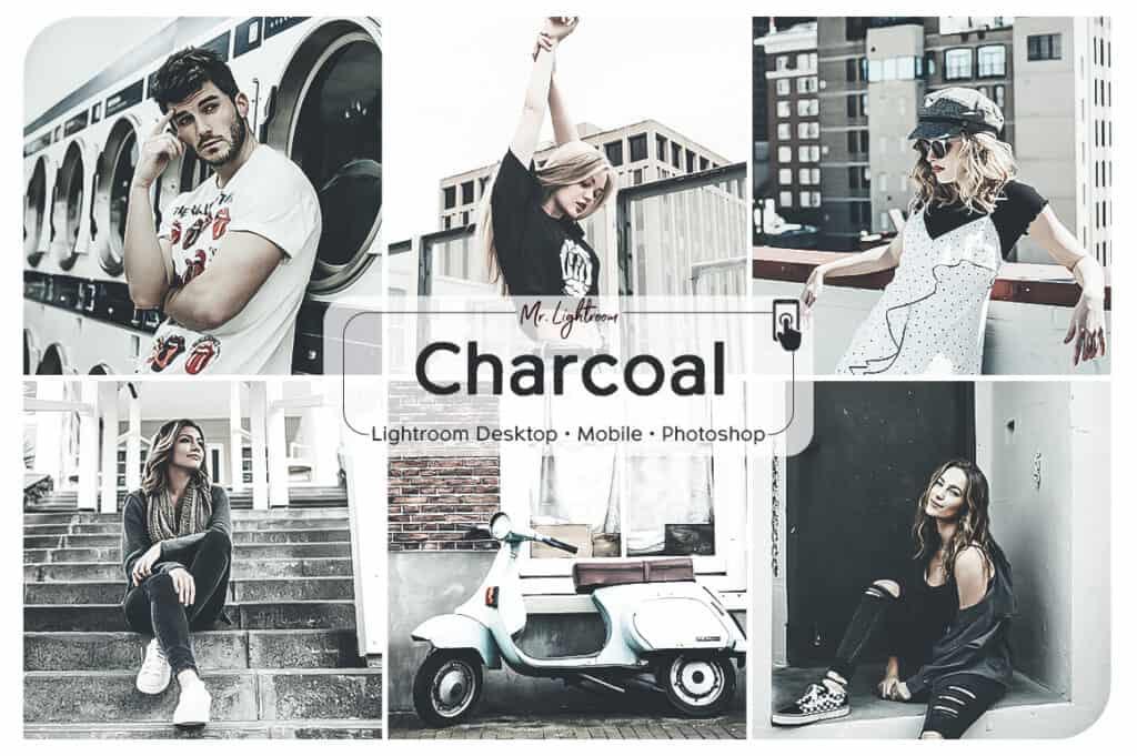Charcoal 1 1024x681 - Charcoal Lightroom Desktop and Mobile Presets
