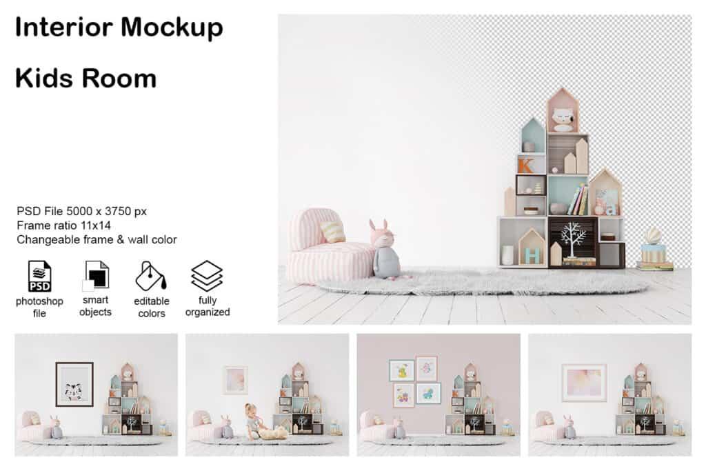 0006 prv 01 1 1024x683 - Interior Mockup Kids Room 06