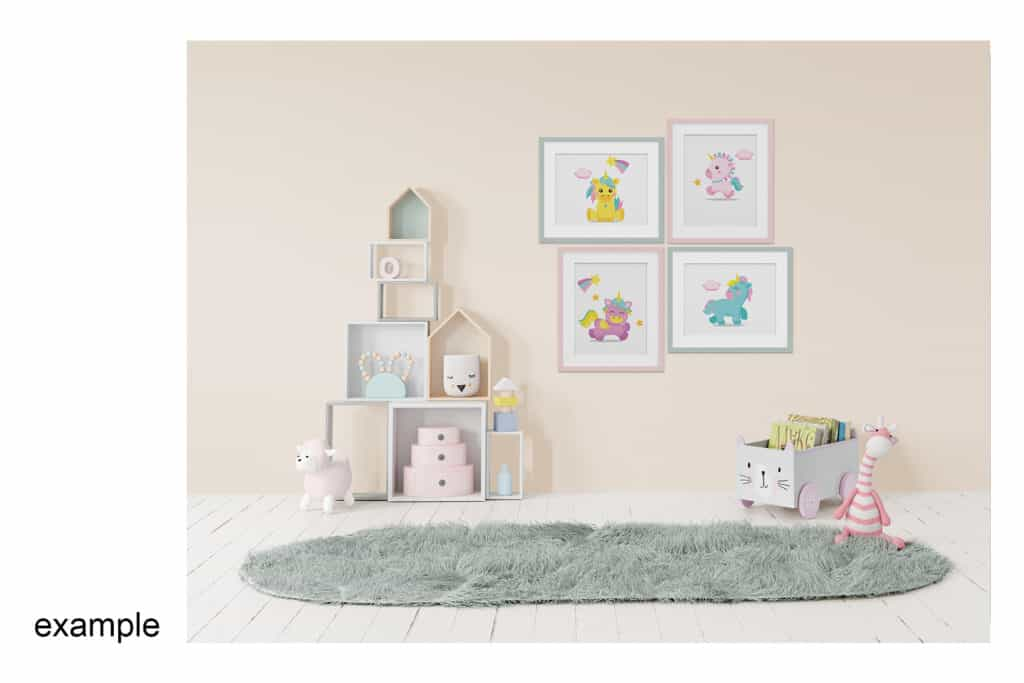 0007 prv 06 1024x683 - Interior Mockup Kids Room 0007