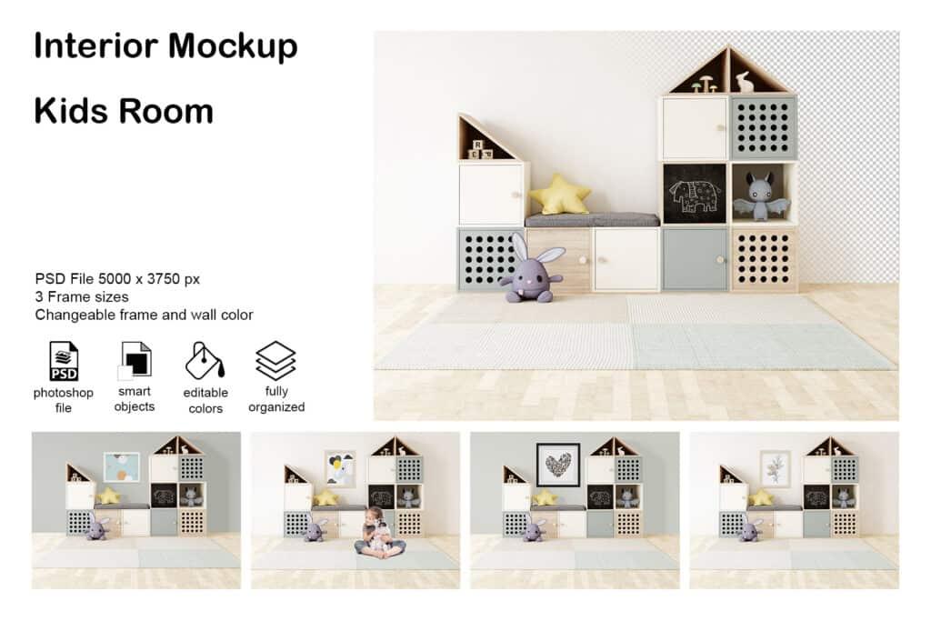 0008 prv 1 1024x683 - Interior Mockup Kids Room 0008