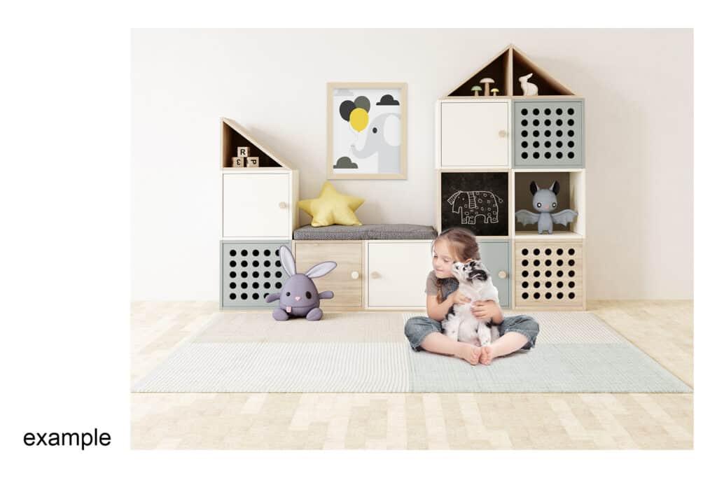 0008 prv 5 1024x683 - Interior Mockup Kids Room 0008