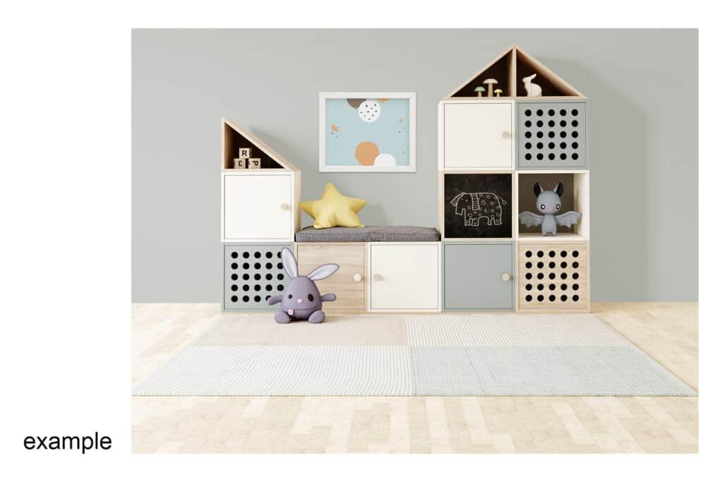 0008 prv 8 1024x683 - Interior Mockup Kids Room 0008