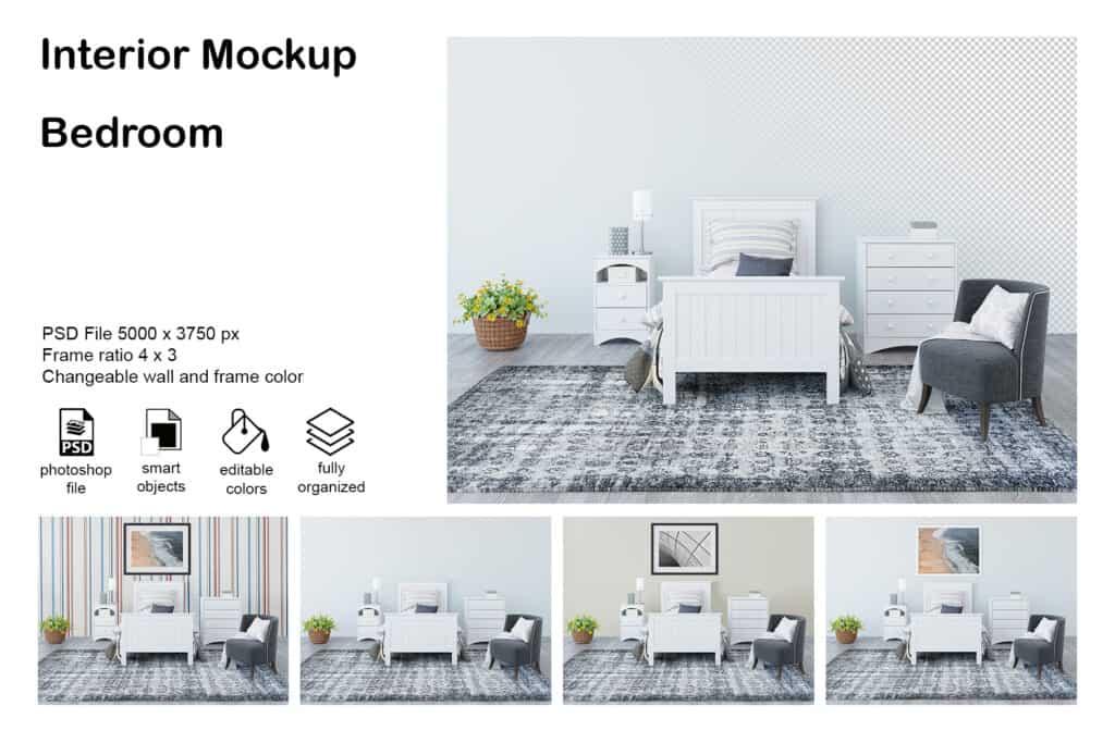 bedroom prv1 1024x683 - Interior Mockup Bedroom 0010