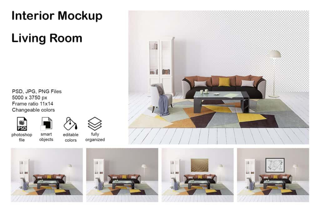 prv 002 1024x683 - Interior Mockup living Room 003