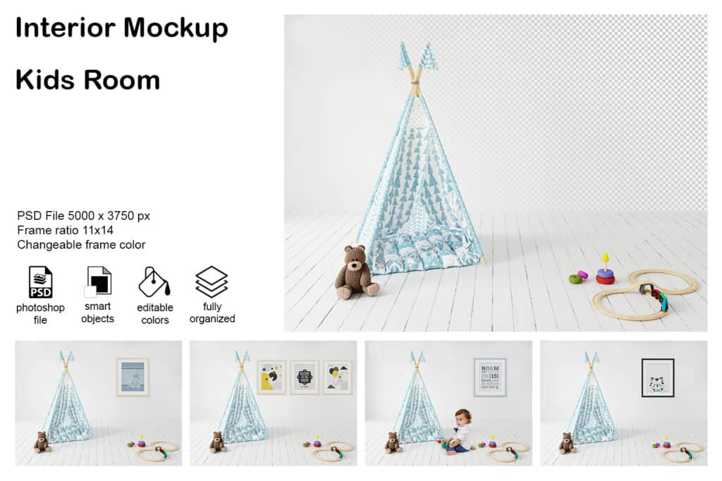 prv1 1024x683 - Interior Mockup Kids Room 04
