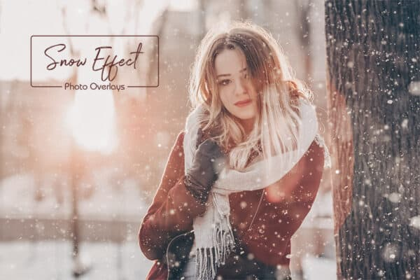 50 Snow Photo Overlays