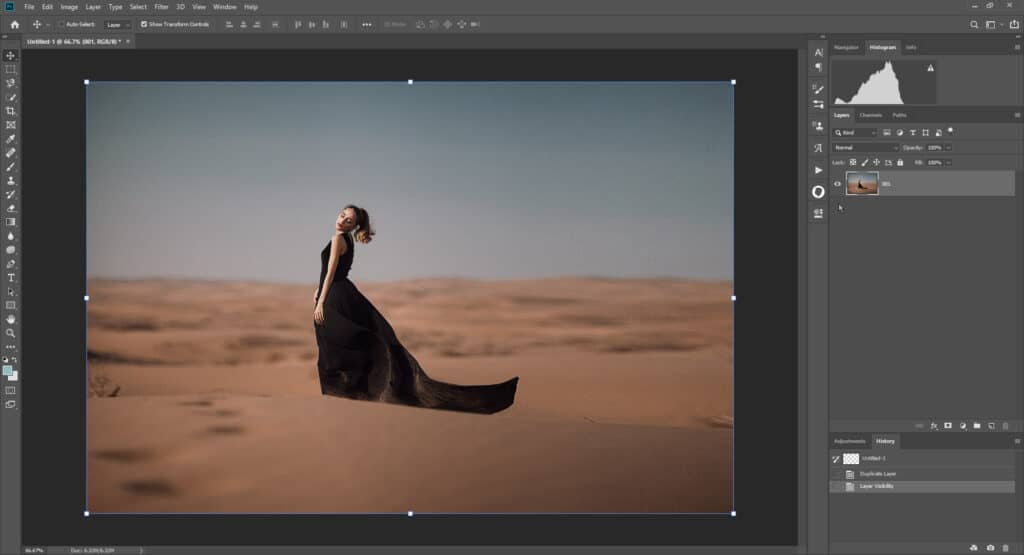 fabric tut 01 1024x555 - How to add a flying fabric overlay to image in Photoshop