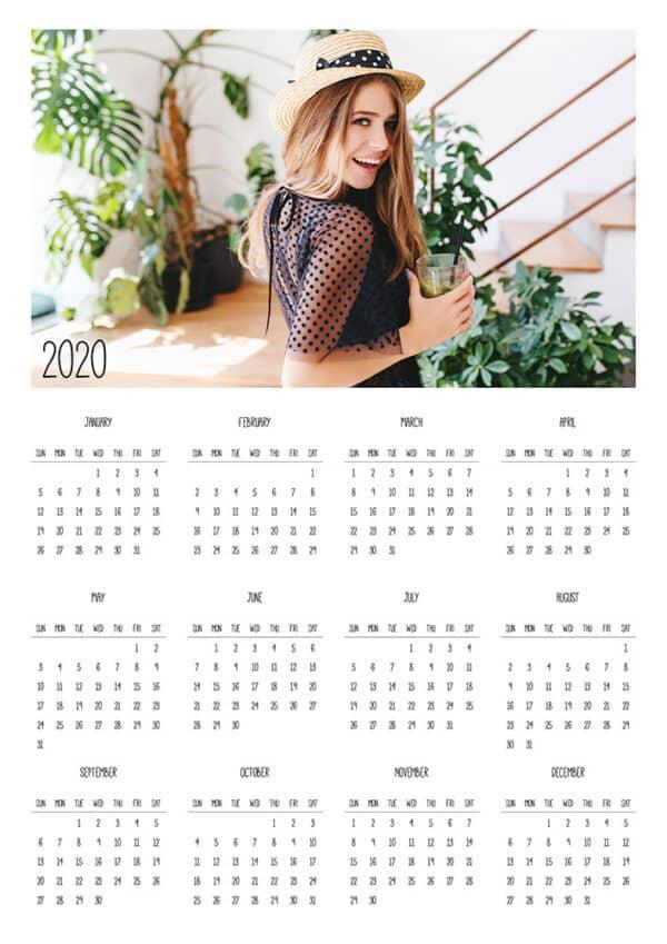 FREE Calendar Template 2020