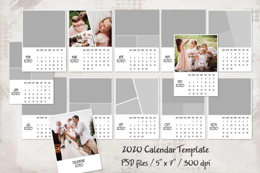 prv1 1024x683 - 2020 Calendar Template - 5x7