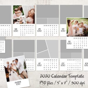 prv1 300x300 - 2020 Calendar Template - Sunday start - 5x7