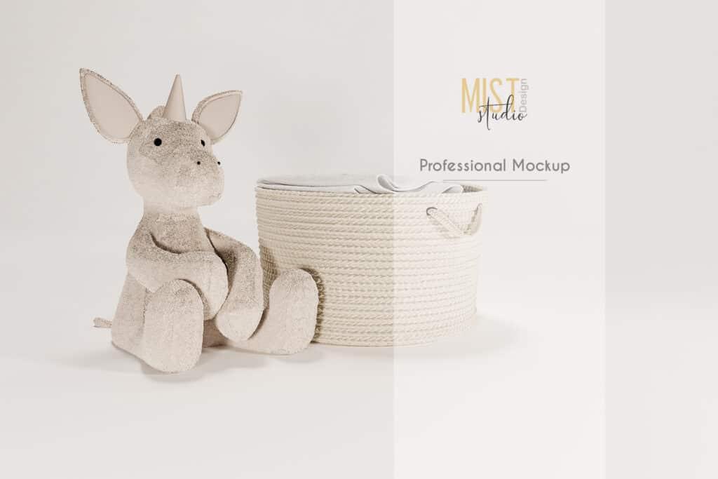 prv1 1024x683 - Hamper and unicorn mockup. Digital Backdrop