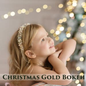 60 Christmas Gold Bokeh Overlays