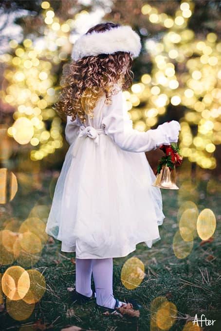 Christmas Bokeh 05.2 - 60 Christmas Gold Bokeh Overlays