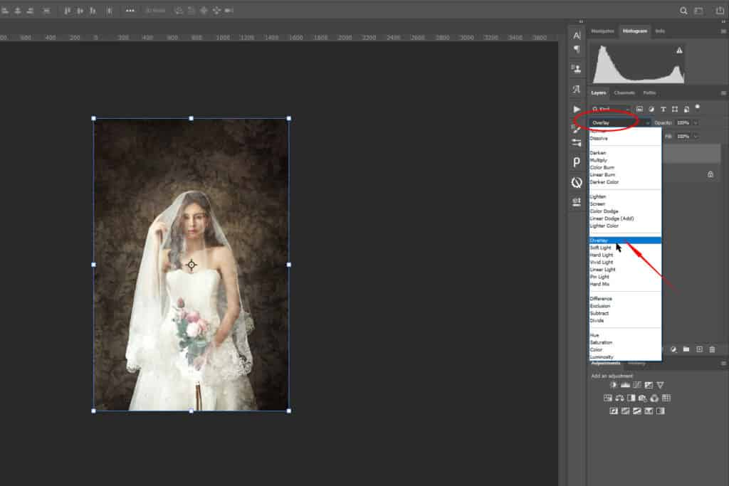 002 1024x683 - How to Add an Art Texture to a Portrait in Photoshop