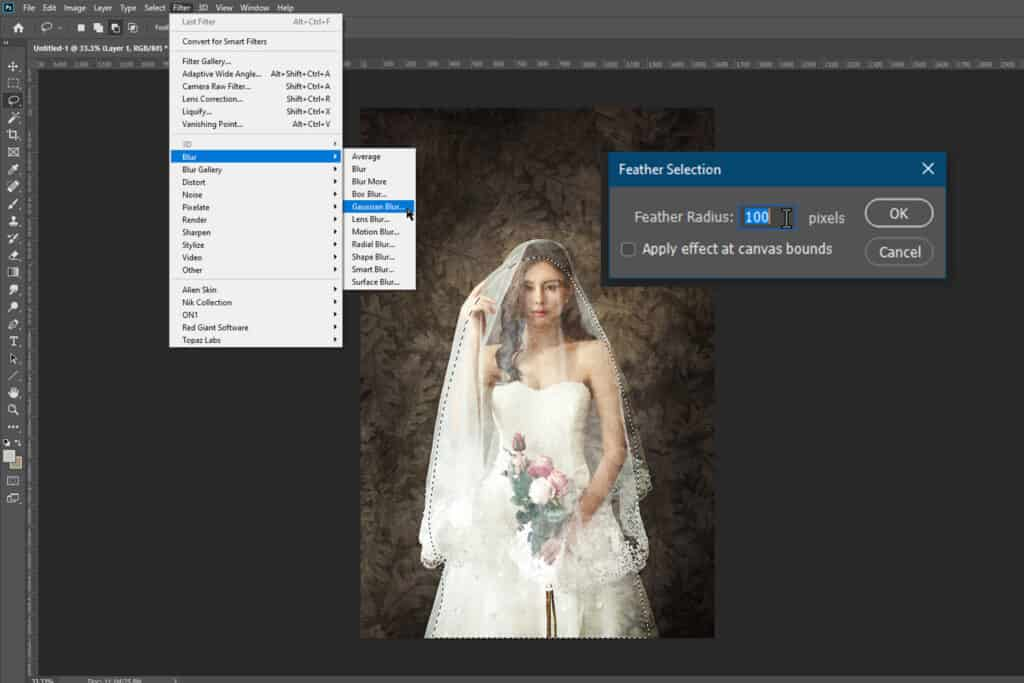 004 1024x683 - How to Add an Art Texture to a Portrait in Photoshop