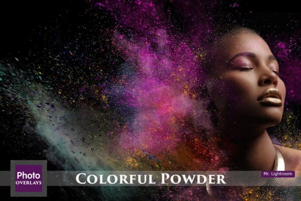 60 Colorful Powder Explosion Overlays