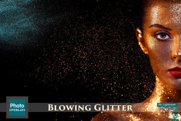 135 Blowing Glitter Overlays
