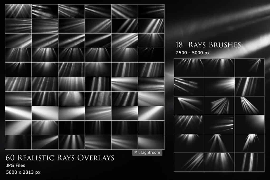 Rays 02 1024x683 - Realistic Rays and Floating Dust Brushes and Overlays