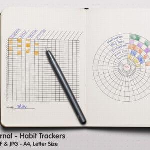 Circle Tracker 01 300x300 - Habit Circle Tracker Planner