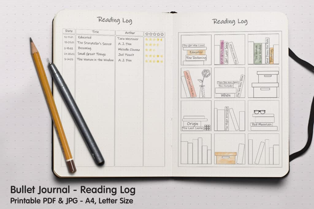Reading Log 01.1 1024x683 - Book Tracker Planner 1