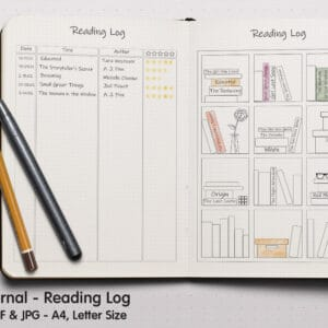 Reading Log 01.1 300x300 - Book Tracker Planner 1