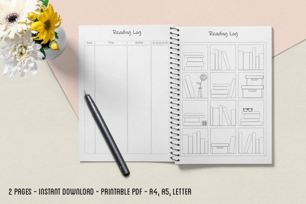 Reading Log 01.2 1024x683 - Book Tracker Planner 1