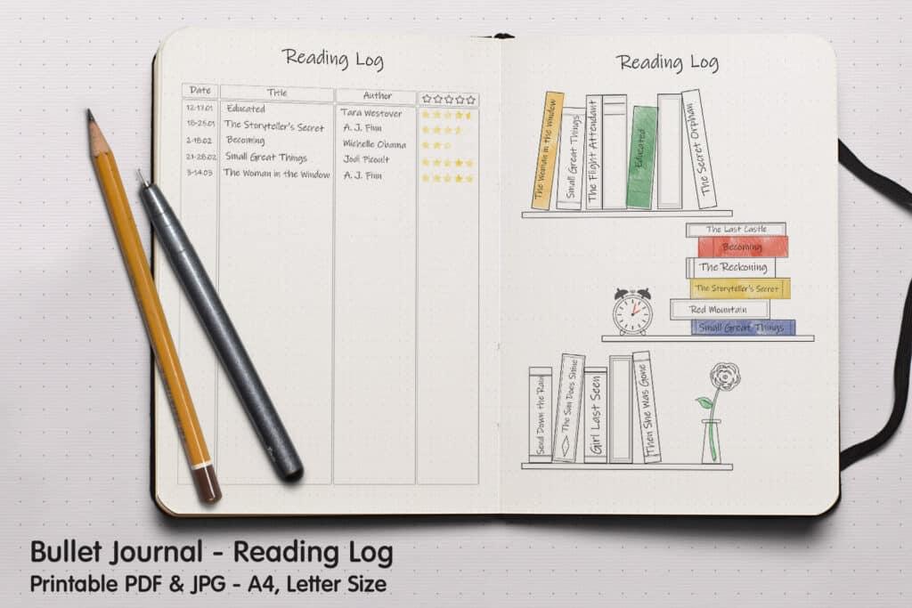 Reading Log 02.1 1024x683 - Book Tracker Planner 2