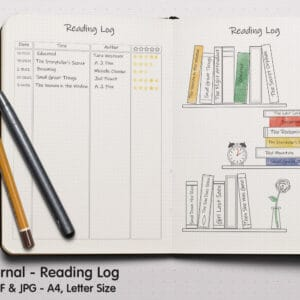 Reading Log 02.1 300x300 - Book Tracker Planner 2