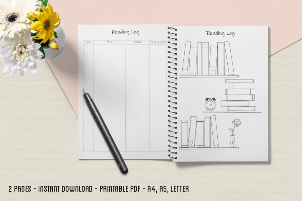 Reading Log 02.2 1024x683 - Book Tracker Planner 2