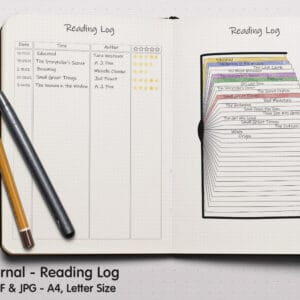 Reading Log 03.1 300x300 - Book Tracker Planner 3