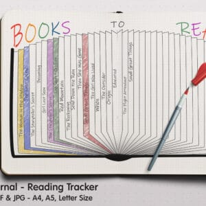 Reading Log 04.1 300x300 - Book Tracker Planner 4