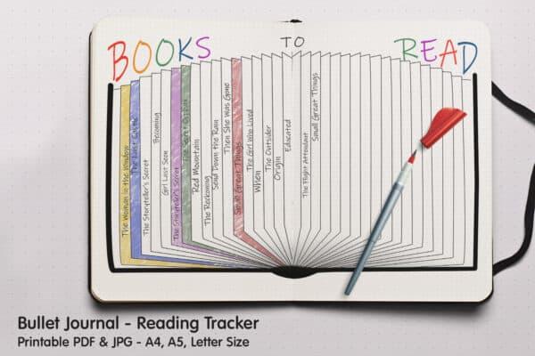 Book Tracker Planner 4