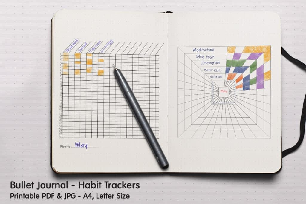 Square Tracker 1.1 1024x683 - Habit Square Tracker Planner