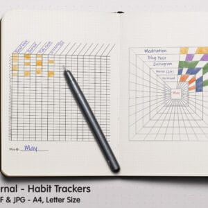 Habit Square Tracker Planner