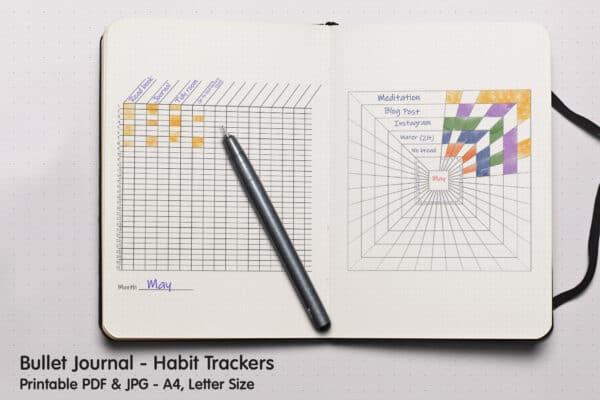 Habit Square Tracker Planner