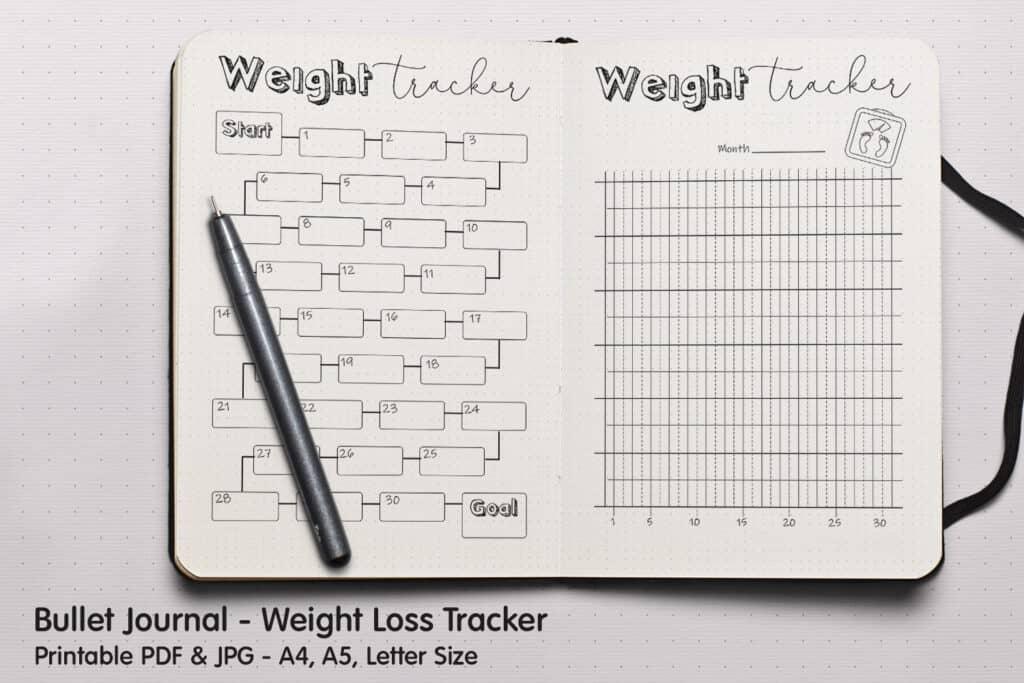 Weight Tracker 1 1024x683 - Weight Loss Tracker Planner