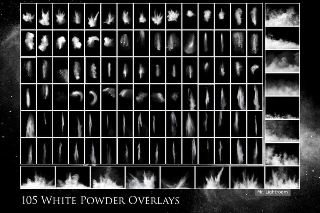 White powder 2.1 1024x683 - 105 White powder overlays