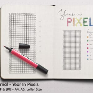 Year In Pixels Planner