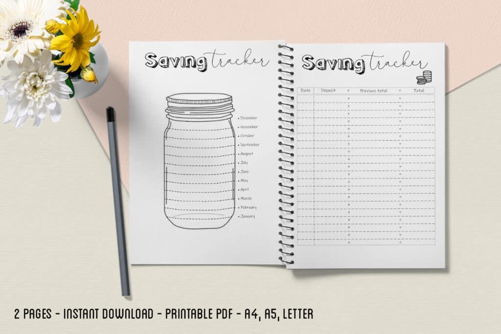 prv Savings Tracker 2 1024x683 - Saving Tracker Planner