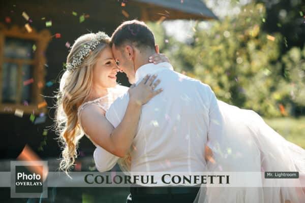 64 Colorful Confetti Overlays