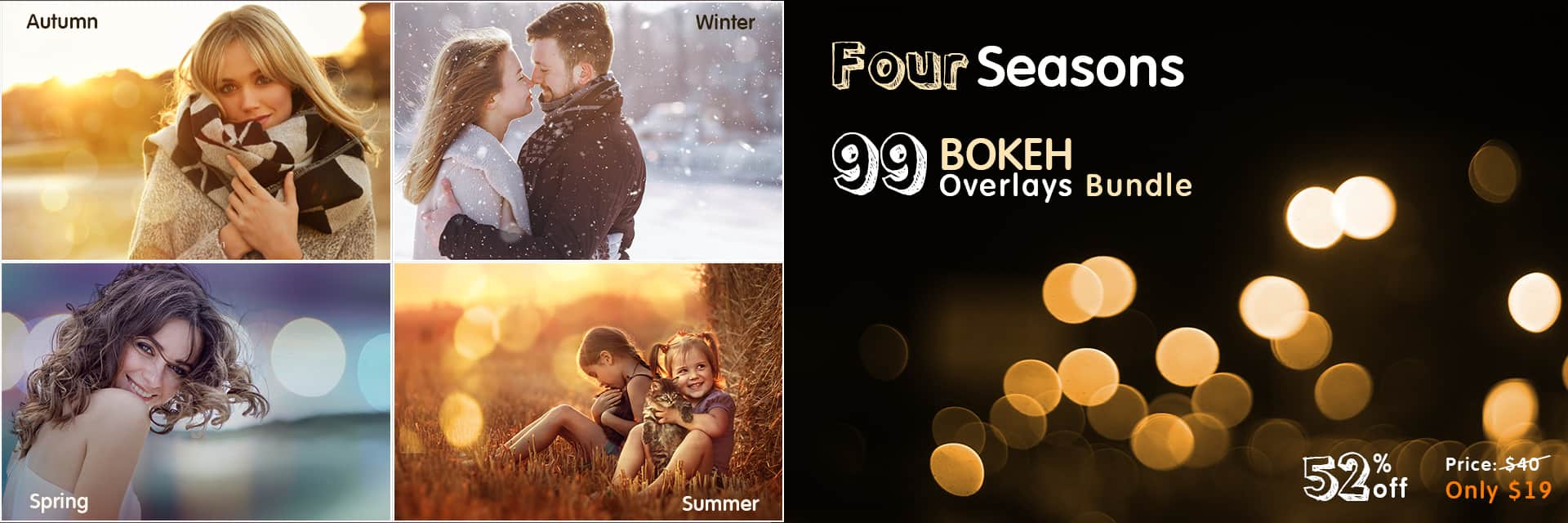 Four Seasons Bokeh bundle slider -