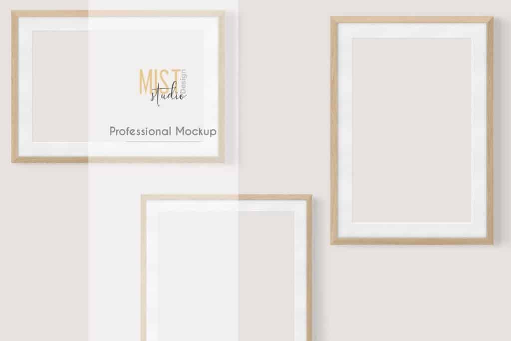 prv 1 1024x683 - Wooden Frames Mockup PNG
