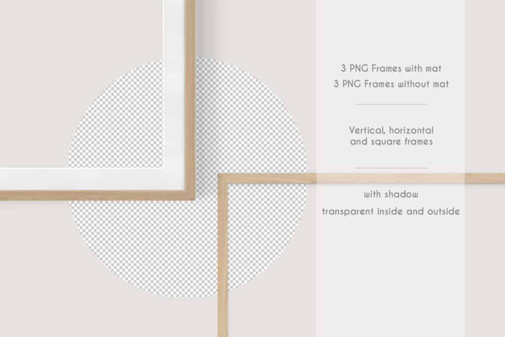 prv 2 1024x683 - Wooden Frames Mockup PNG
