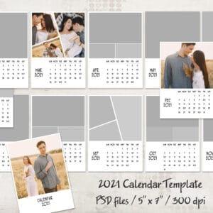 2021 prv 1 1 300x300 - 2021 Calendar Template, 5x7, Personalized Calendar