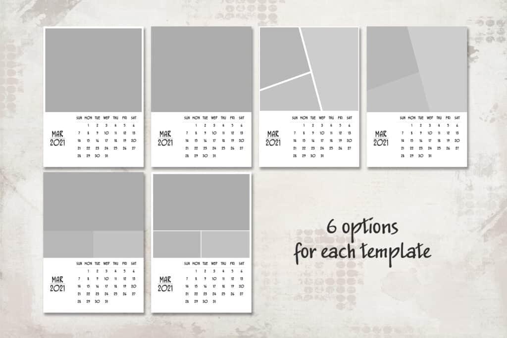 2021 prv 2 1 1024x683 - 2021 Calendar Template, 5x7, Personalized Calendar