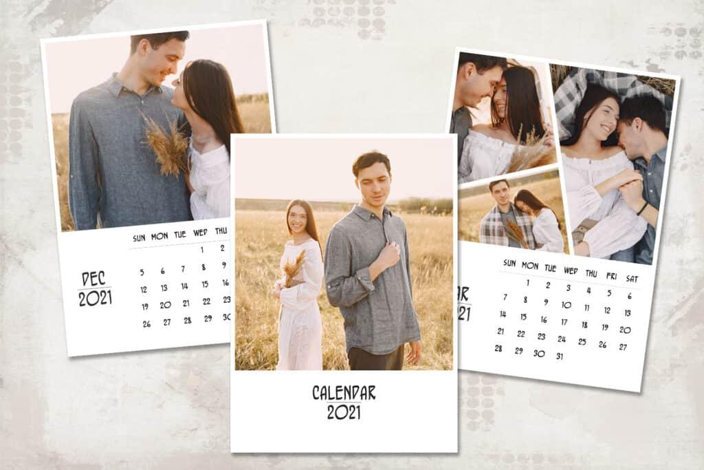 2021 prv 3 1024x683 - 2021 Calendar Template, 5x7, Personalized Calendar
