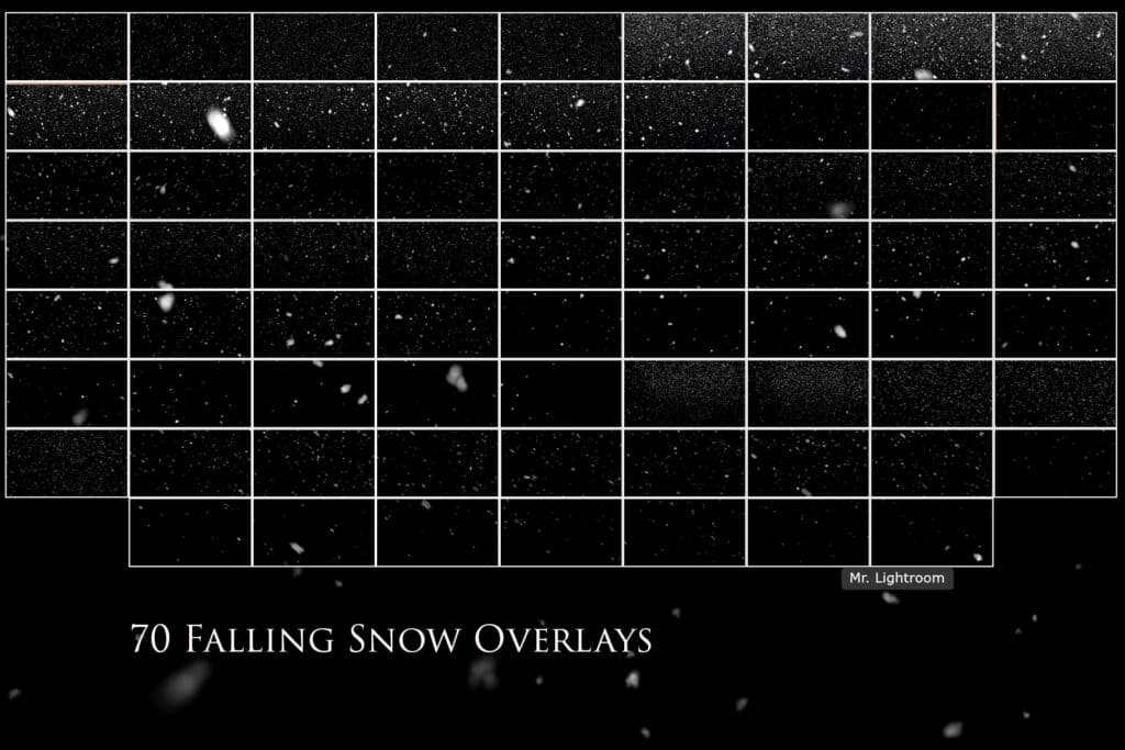 Falling Snow prv 2 1024x683 - Falling Snow Photo Overlays
