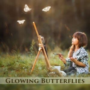 Glowing Butterflies Overlays