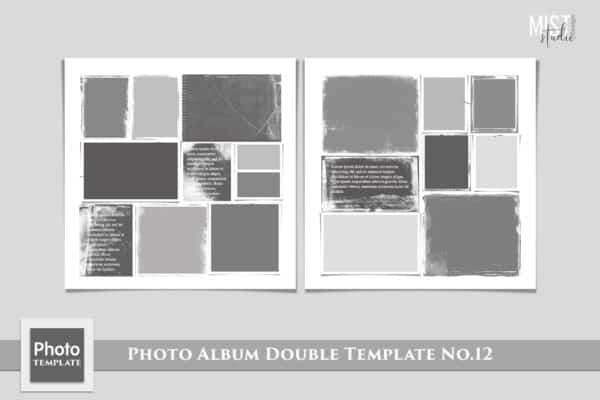 Photo Album Double Template No.12
